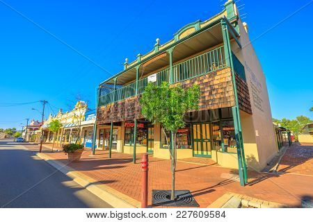York, Australia - Dec 25, 2017: Jules Shoppe, Takeaway In York Center, Avon Terrace. York Is The Old