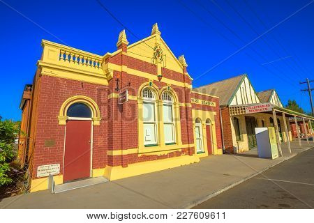 York, Australia - Dec 25, 2017: Perspective View Of Former Fire Station On Avon Terrace, York, A Pop