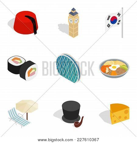 Cultural Diversity Icons Set. Isometric Set Of 9 Cultural Diversity Vector Icons For Web Isolated On