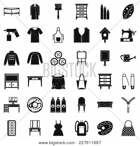 Item Of Clothing Icons Set. Simple Set Of 36 Item Of Clothing Vector Icons For Web Isolated On White