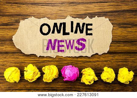 A Tablet Computer On A Desk - Online News