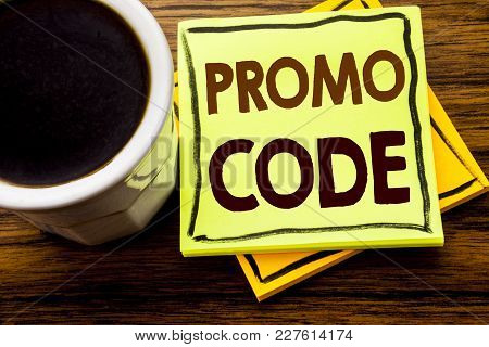 Handwritten Text Showing Promo Code. Business Concept For Promotion For Online Business Written On S
