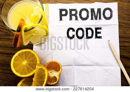 Conceptual Text Caption Showing Promo Code. Concept For Promotion For Online Business Written On Tis