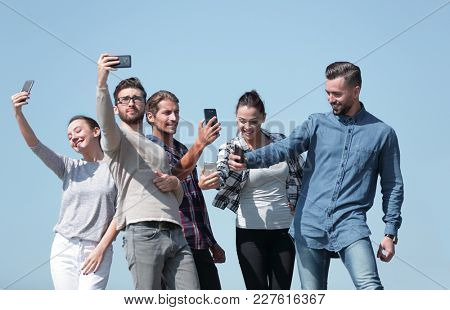 closeup.today's young people are taking selfies.