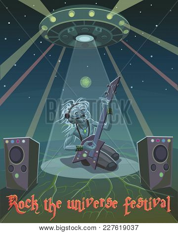 Rock Musician Alien Alien Came To The Festival Universe To Show Their Abilities In Music And In The