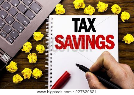 Conceptual Hand Writing Text Caption Tex Savings . Business Concept For Tax Savings Extra Money Refu