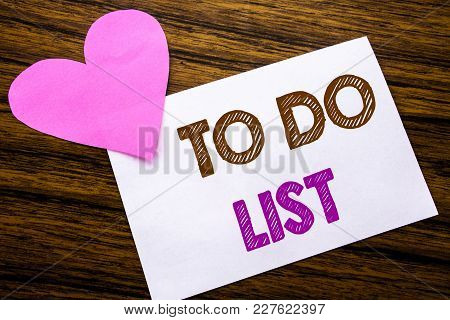 Conceptual Hand Writing Text Showing To Do List. Concept For Plan Lists Remider Written On Sticky No