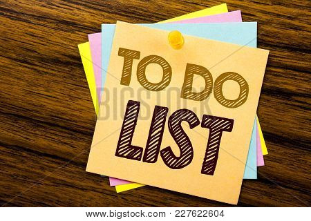 Conceptual Hand Writing Text Caption Inspiration Showing To Do List. Business Concept For Plan Lists