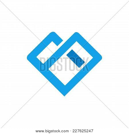 Interaction Bold Line Love Shape Symbol Vector Illustration Graphic Design