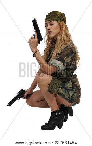 Beautiful Woman Soldier