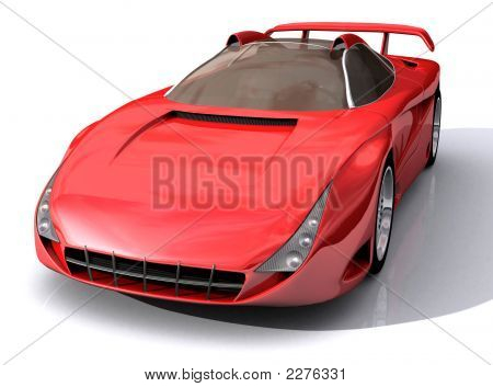 Red Sports Concept Car