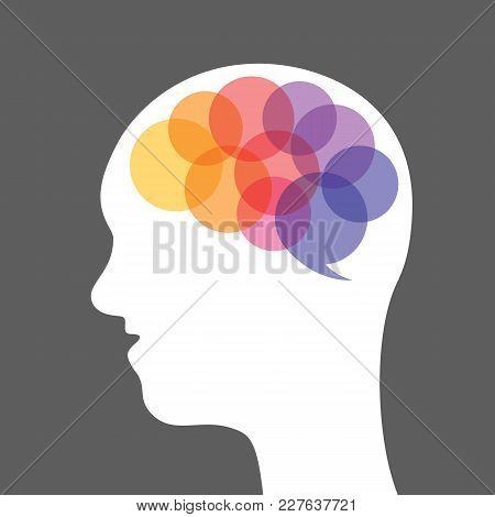 Abstract Human Brain. People Body Part. Illustration