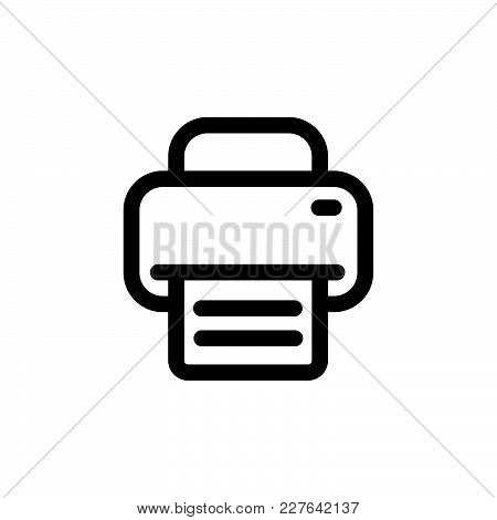 Printer Icon Isolated On White Background. Fax Icon Modern Symbol For Graphic And Web Design. Printe