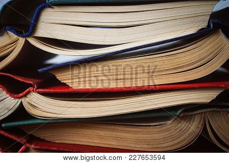 Opened Books Folded A Friend To A Friend. Can Be Used Like Back Background