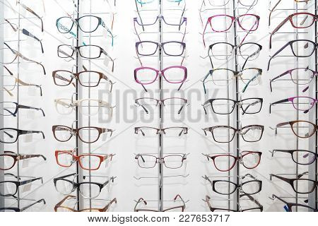 Rack With Frames For Glasses