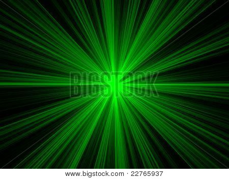 Abstract Green Fractal Explosion