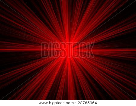 Abstract Red Fractal Explosion