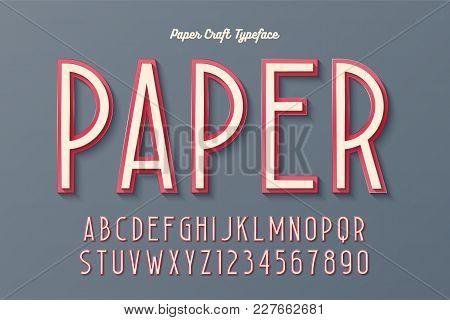 Decorative Vintage Paper Craft Typeface, Font, Typeface Design. Easy Swatch Color Control