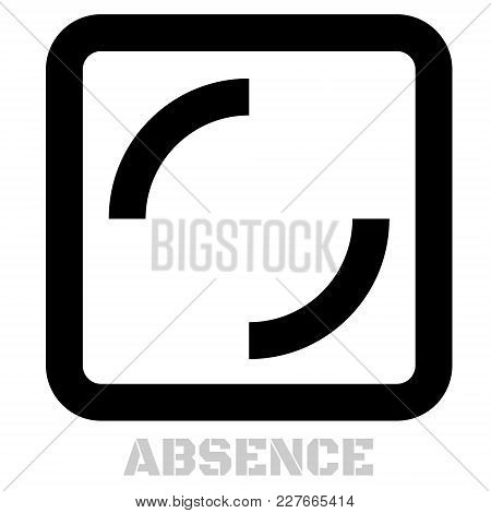 Absence Conceptual Graphic Icon. Design Language Element, Graphic Sign.