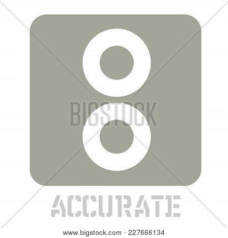 Accurate Conceptual Graphic Icon. Design Language Element, Graphic Sign.