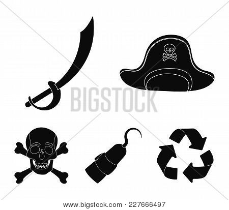 Pirate, Bandit, Cap, Hook .pirates Set Collection Icons In Black Style Vector Symbol Stock Illustrat