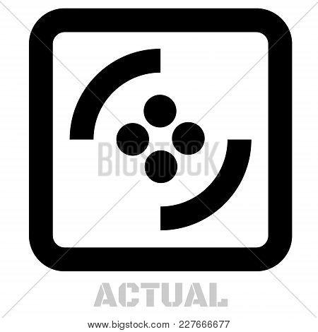 Actual Conceptual Graphic Icon. Design Language Element, Graphic Sign.