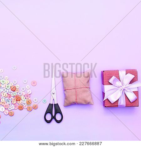 Creative Background For Your Text And Design. Materials For Creativity.