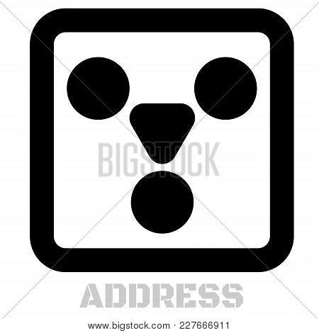 Address Conceptual Graphic Icon. Design Language Element, Graphic Sign.