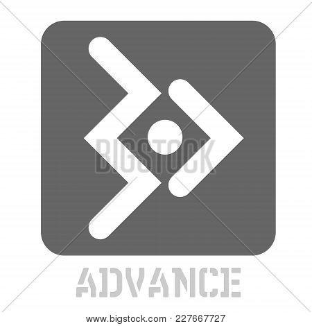 Advance Conceptual Graphic Icon. Design Language Element, Graphic Sign.