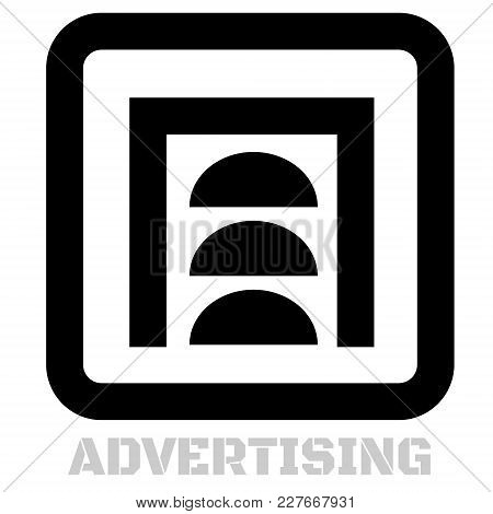 Advertising Conceptual Graphic Icon. Design Language Element, Graphic Sign.