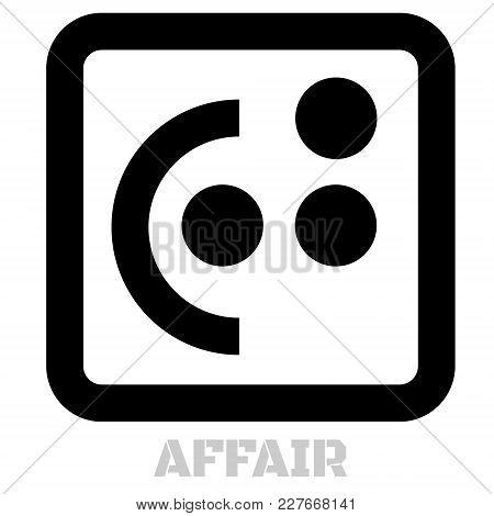 Affair Conceptual Graphic Icon. Design Language Element, Graphic Sign.