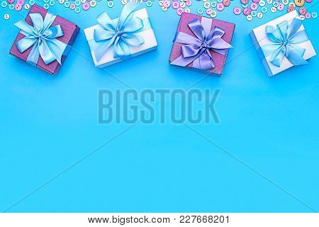 Beautiful Festive Background For Your Text And Design. Materials For Creativity.
