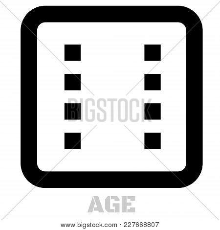 Age Conceptual Graphic Icon. Design Language Element, Graphic Sign.
