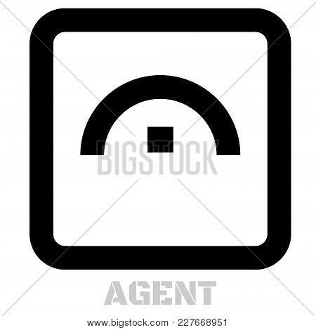 Agent Conceptual Graphic Icon. Design Language Element, Graphic Sign.