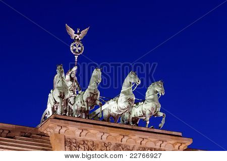 Quadriga Of Brandenburger Tor (the Brandenburg Gate)