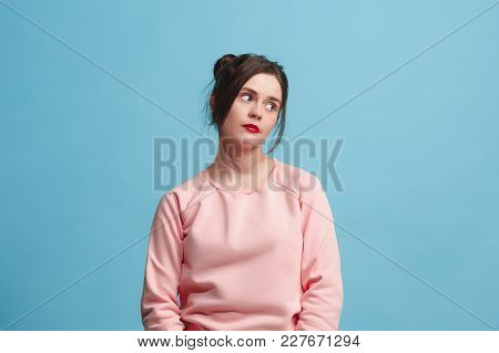 I Am Tired Of Everything. Bored Woman. Boring, Dull, Tedious Concept. Young Pretty Caucasian Emotion