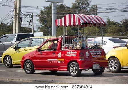 Coconut Icecream Shop On Daihatsu Mira Mini Truck.