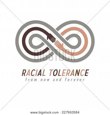 Racial Tolerance Conceptual Symbol, Martin Luther King Day, Zero Tolerance, Vector Symbol Created Wi