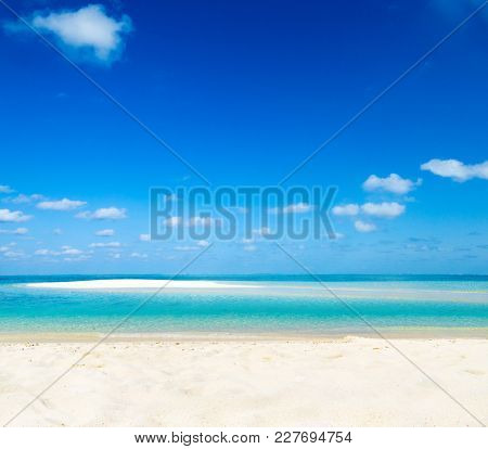 sand of beach caribbean sea
