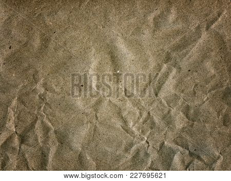 Textured Obsolete Crumpled Packaging Paper Vintage Background