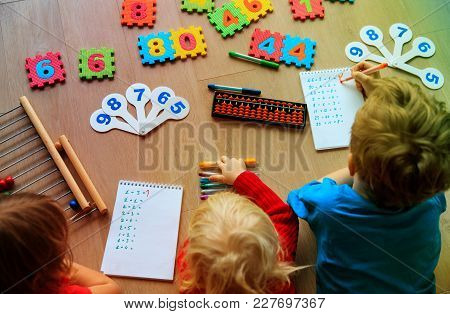 Kids Learning Numbers, Abacus Calculation, Learning Activities