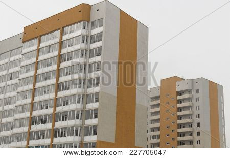 Modern Multistory Apartment Buildings. Contemporary Architecture. Apartment Blocks. Residential Buil