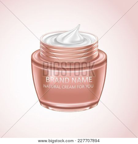 Cream Mask Blank Package Model. Realistic Design