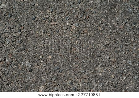 Texture Of The Old Asphalt Road For Background