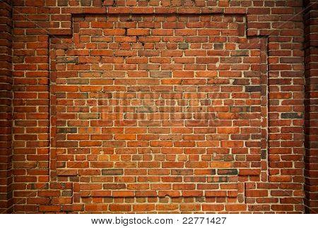 Old Brick Wall With Interesting Framing
