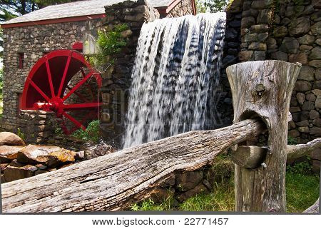 Waterfall At Grist Mill