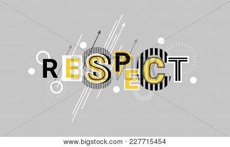Respect And Appreciation Web Banner Abstract Template Background Vector Illustration