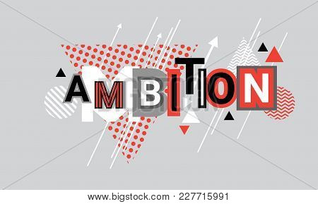 Ambition Business Goal Targeting Web Banner Abstract Template Background Vector Illustration