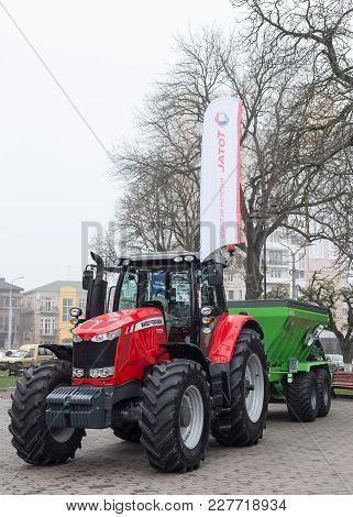 Lutsk, Volyn / Ukraine - November 18 2017: Agricultural Machinery In Agricultural Fair