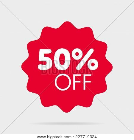 Special Offer Sale Price Red Isolated Vector Illustration. Discount Label, Symbol For Advertising Ca